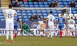 Josh Magennis of Charlton Athletic fires a penalty wide of the target - Mandatory by-line: Joe Dent/JMP - 10/03/2018 - FOOTBALL - ABAX Stadium - Peterborough, England - Peterborough United v Charlton Athletic - Sky Bet League One