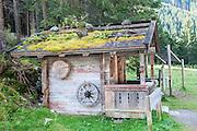 Woodman's cabin Zillertal forest near Winnertal, Tyrol, Austria
