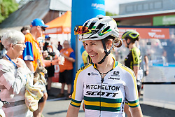 Amanda Spratt (AUS) in her new, national champion jersey at Stage 1 of 2020 Santos Women's Tour Down Under, a 116.3 km road race from Hahndorf to Macclesfield, Australia on January 16, 2020. Photo by Sean Robinson/velofocus.com