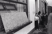 Kids hanging outside their house Newport South Wales