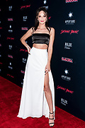 RUBY MODINE attends the Los Angeles premiere of Satanic Panic at the Egyptian Theatre in Los Angeles, California.