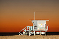 Lifeguard Tower at Santa Monica State Beach, Santa Monica, California<br /> <br /> Year Photographed: 2012<br /> <br /> Edition Type: Exclusive Limited Tier 1 (please call or email me for more info.)
