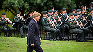 15-8-2015 - THE HAGUE - King Willem-Alexander opens along Jan-Kees Wiebenga, chairman Memorial Foundation August 15, 1945, the defile at the memorial to the Indian Monument of the Japanese surrender. King and Prime Minister Rutte live Saturday August 15 seventy-year commemoration of the surrender of Japan on August 15, 1945. The memorial will take place at the Indian Monument in The Hague.COPYRIGHT ROBIN UTRECHT/freek van den berg <br />
