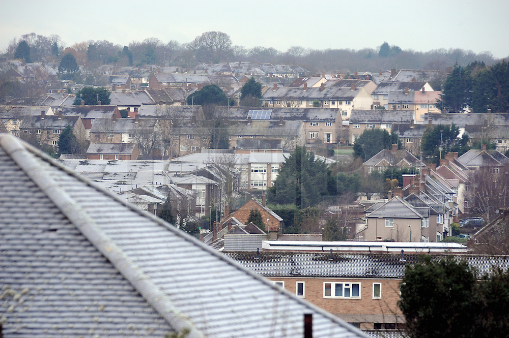 &copy; Licensed to London News Pictures. 19/01/2015<br /> Freezing roof tops across Orpington and Bromley in the South East.<br /> A very cold morning St Pauls Cray,Orpington,Kent. today (19.01.2015)<br /> Weather warning has been issued across most of the uk as temperatures dropped overnight to -11c in parts.<br /> <br /> (Byline:Grant Falvey/LNP)