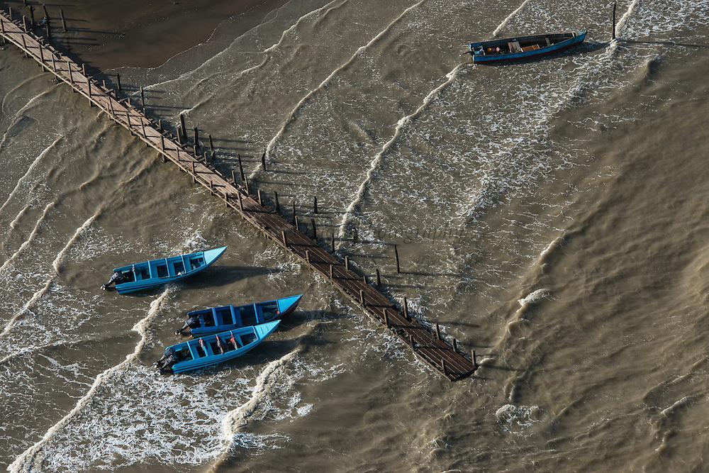 Fishing boats<br /> East GUYANA<br /> South America