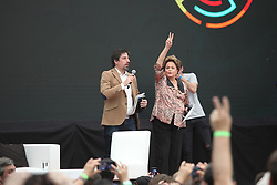November 19, 2018 - Buenos Aires, Buenos Aires, Argentina - Cristina Kirchner and Dilma Rousseff opens CLACSO Summit at Ferrocarril Oeste stadium. (Credit Image: © Claudio Santisteban/ZUMA Wire)