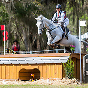 Jessica Phoenix (CAN) and Bentley's Best at the Red Hills International Horse Trials in Tallahassee, Florida.
