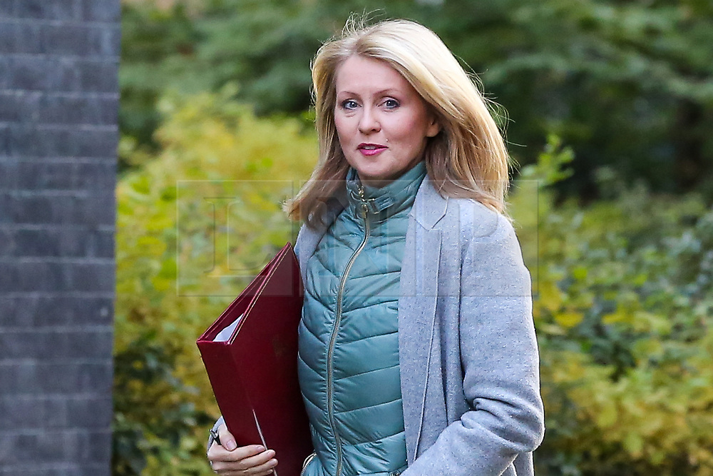 © Licensed to London News Pictures. 22/10/2019. London, UK. Minister of State for Housing ESTHER MCVEY arrives in Downing Street to attend the weekly cabinet meeting. Photo credit: Dinendra Haria/LNP