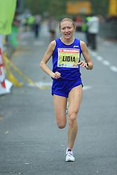 LIDIA VASILEVSKAYA (RUS) v cilju na 13. Ljubljanskem maratonu po ulicah Ljubljane, 26. oktobra 2008, Ljubljana, Slovenija. (Photo by Vid Ponikvar / Sportal Images)./ Sportida)