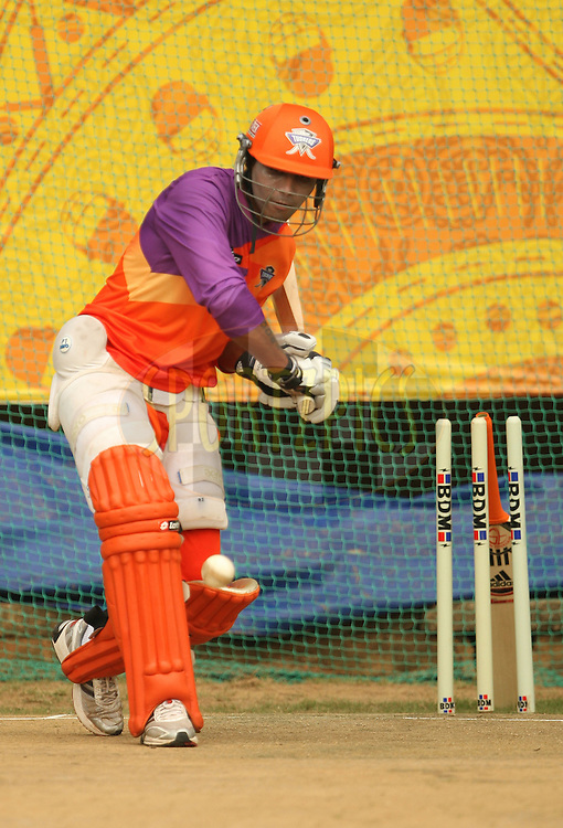 Ravindra Jadeja during the Kochi Tuskers and Chennai Superkings practice sessions held at the  M. Chinnaswamy Stadium in Kochi, Kerala  India on the 17th April 2011..Photo by Jacques Rossouw/BCCI/SPORTZPICS .