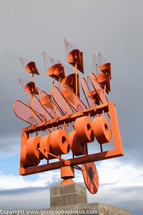 Wind sculpture weather vane by César Manrique, Arrieta, Lanzarote, Canary Islands, Spain