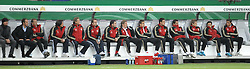 14.10.2009, HSH Nordbank Arena, Hamburg, GER, WM Qualifikation, Deutschland GER vs Finnland FIN , im Bild Deutche Auswechselbank mit deuc Hans-Dieter Flick ( Germany / Trainer / Coach / . ) Andreas Koepke ( Köpke ) (Germany / Trainer / Keeper - Coach /  ) Miroslav Klose ( GER /  Bayern #11) Bastian Schweinsteiger ( Ger /  Bayern Muenchen #7) Marko Marin( GER Bremen  # 06 ) Mesut Özil ( Ger / Werder Bremen #17) Tim Wiese ( GER / Bremen #), EXPA Pictures © 2009 for Austria, Italy and United Kingdom only, Photographer EXPA / NPH / Kokenge
