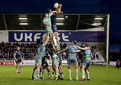 Josh Beaumont of Sale Sharks wins a line out - Mandatory by-line: Matt McNulty/JMP - 08/09/2017 - RUGBY - AJ Bell Stadium - Sale, England - Sale Sharks v Newcastle Falcons - Aviva Premiership