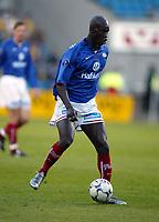 Fotball, 16. mai 2003, Tippeligaen, Vålerenga-Lillestrøm 1-1. Pa-Modou Kah, Vålerenga