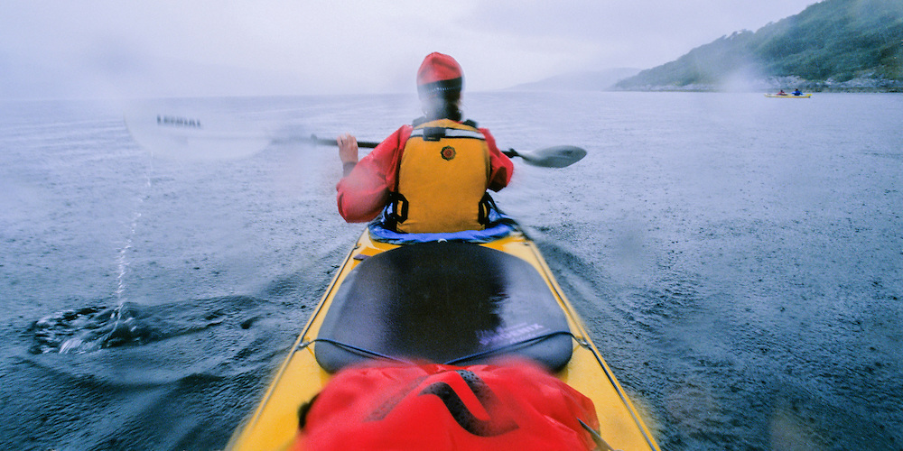 SEA KAYAKING, SCOTLAND, W. coast south of Oban Loch Sween