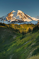 Sunset on Mount Baker from Skyline Divide, Mount Baker Wilderness, North Cascades Washington