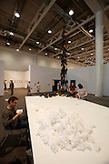 "Art 38 Basel. Art Unlimited Pre-Opening. Martin Walde (l.), ""Working Vision"". Galerie Krinzinger, Vienna."