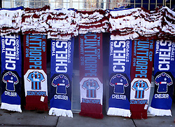Scarfs on sale for the FA Cup tie between Chelsea and Scunthorpe United - Mandatory byline: Robbie Stephenson/JMP - 10/01/2016 - FOOTBALL - Stamford Bridge - London, England - Chelsea v Scunthrope United - FA Cup Third Round