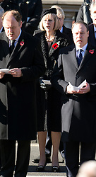 © London News Pictures. 11/11/2012. London, UK. Home Secretary Theresa May (centre)  during a Remembrance Day Ceremony at the Cenotaph on November 11, 2012 in London, United Kingdom. Photo Credit: Ben Cawthra/LNP
