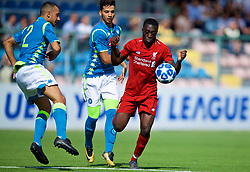 NAPLES, ITALY - Wednesday, October 3, 2018: Liverpool's Bobby Adekanye during the UEFA Youth League Group C match between S.S.C. Napoli and Liverpool FC at Stadio Comunale di Frattamaggiore. (Pic by David Rawcliffe/Propaganda)
