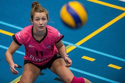 09-04-2016 NED: SV Dynamo - Flamingo's 56, Apeldoorn<br /> Flamingo's doet een goede stap naar het kampioenschap in de Topdivisie. Dynamo wordt met 3-0 verslagen / Ireen Koenen #11 of Flamingo