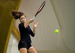 Pia Marija Rebec in action during Slovenian National Tennis Championship 2019, on December 21, 2019 in Medvode, Slovenia. Photo by Vid Ponikvar/ Sportida