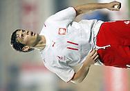 JEREZ 03/02/2007..MECZ TOWARZYSKI POLSKA _ ESTONIA ...NA ZDJ. RADOSLAW MATUSIAK /POLSKA/..FOT. PIOTR HAWALEJ / WROFOTO