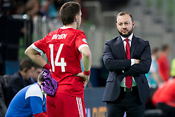 Sergei Skorovich, head coach of Russia during futsal match between Russia and Poland at Day 1 of UEFA Futsal EURO 2018, on January 30, 2018 in Arena Stozice, Ljubljana, Slovenia. Photo by Urban Urbanc / Sportida