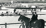 1986 World Rowing Championships, Nottingham, ENGLAND, Mounted Police guard the boat area, All Rights Reserved - Peter Spurrier/Intersport Images,.Mobile 44 (0) 973 819 551.email images@intersport-images.com 1986 FISA World Rowing Championships