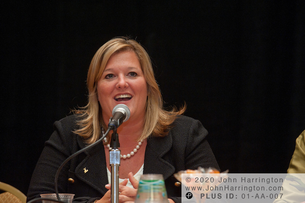 Tricia Mackechnie, SVP and CIO, The Hartford speaks on a panel at the Women in Insurance Leadership Forum at the National Harbor in Maryland on September 18th, 2011.