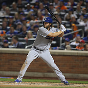 Clayton Kershaw, Los Angeles Dodgers, batting during the New York Mets Vs Los Angeles Dodgers, game four of the NL Division Series at Citi Field, Queens, New York. USA. 13th October 2015. Photo Tim Clayton