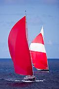 P2 racing in the 2010 St. Barth's Bucket Regatta, race 3.