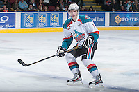 KELOWNA, CANADA - JANUARY 26: Damon Severson #7 of the Kelowna Rockets skates on the ice against the Prince Albert Raiders at the Kelowna Rockets on January 26, 2013 at Prospera Place in Kelowna, British Columbia, Canada (Photo by Marissa Baecker/Shoot the Breeze) *** Local Caption ***