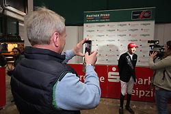 Krieg Niklas, (GER)<br /> Longines FEI World Cup presented by Sparkasse<br /> Sparkasen Cup-Grand Prix of Leipzig<br /> CSIO Leipzig 2016<br /> © Hippo Foto - Stefan Lafrentz