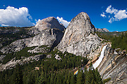 Nevada Fall, Half Dome and Liberty Cap, Yosemite National Park, California