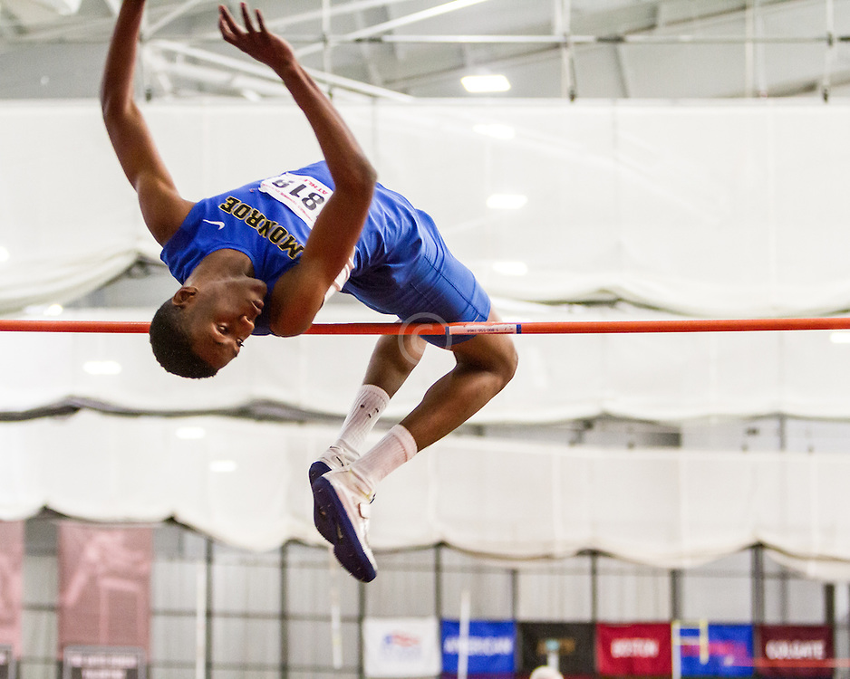 Boston University John Terrier Classic Indoor Track & Field: mens high jump, Monroe College, Swaby