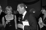 Selina Scott and Prince Charles. Farm Aid. Royal Albert Hall. 18 April 2001. © Copyright Photograph by Dafydd Jones 66 Stockwell Park Rd. London SW9 0DA Tel 020 7733 0108 www.dafjones.com