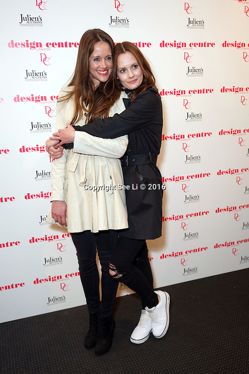London,England,UK : 25th May 2016 : Nicole de Carle,Charlotte de Carle attend the Marilyn Monroe: Legacy of a Legend launch at the Design Centre, Chelsea Harbour, London. Photo by See Li