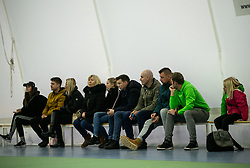 Supporters at final match during Slovenian men's doubles tennis Championship 2019, on December 29, 2019 in Medvode, Slovenia. Photo by Vid Ponikvar/ Sportida