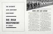 All Ireland Senior Hurling Championship Final,.04.09.1966, 09.04.1966, 4th September 1966,.Minor Cork v Wexford, .Senior Kilkenny v Cork, Cork 3-09 Kilkenny 1-10,..The Irish Independent, ..When they met before, .Kilkenny, Dan Kennedy, Cork , Sean Condon, 1947 Final,
