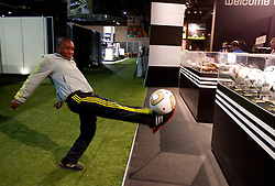 Man plays  with a Jabulani ball at Adidas central for FIFA World Cup 2010 on June 30, 2010 at Nelson Mandela Square in Sandton Convention Centre in Johannesburg. (Photo by Vid Ponikvar / Sportida)