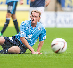 Dundee's Gary Irvine.<br /> Falkirk 3 v 1 Dundee, 21/9/2013.<br /> &copy;Michael Schofield.