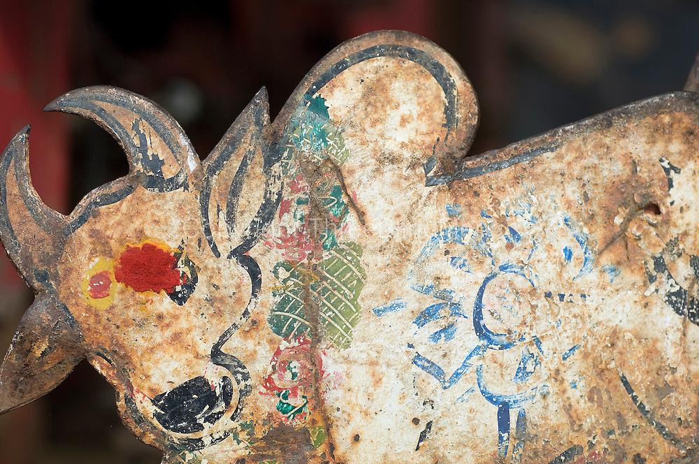 Painted Bull with Bindi.