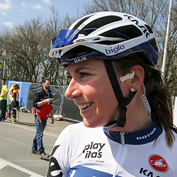 05-04-2015: Wielrennen: Ronde van Vlaanderen vrouwen: Belgie<br /> OUDENAARDE (BEL) cycling<br /> The 3th race in the UCI womens World Cup is the 12th edition of the Ronde van Vlaanderen. The race distance is 145 km with 12 Climbs and 5 zones of Cobbles.<br /> Annemiek van Vleuten after her 4th place in Flanders