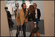 , EVGENY LEBEDEV; ELLA KRASNEROpening of Frieze art Fair. London. 14 October 2014