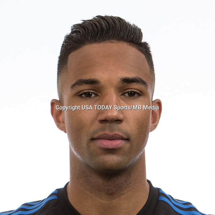 Feb 25, 2017; USA; San Jose Earthquakes player Danny Hoesen poses for a photo. Mandatory Credit: USA TODAY Sports