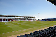 Sixfields new East stand ready to welcome supporters for the first time during the Sky Bet League 2 match between Northampton Town and Notts County at Sixfields Stadium, Northampton, England on 2 April 2016. Photo by Dennis Goodwin.