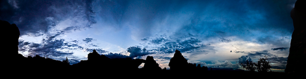 Stunning Panoramic Sunset in Arches National Park