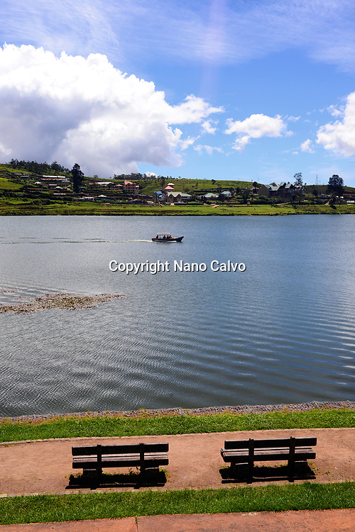 View of Lake Gregory from Gregory Park, Nuwara Eliya, Sri Lanka