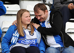 Bristol Rovers fans - Mandatory byline: Neil Brookman/JMP - 07966 386802 - 03/10/2015 - FOOTBALL - Globe Arena - Morecambe, England - Morecambe FC v Bristol Rovers - Sky Bet League Two